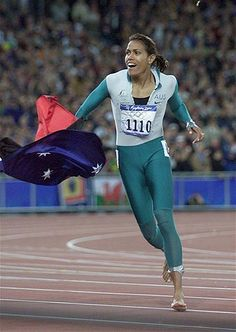 Cathy Freeman in 400m Women's Final during Sydney Olympic Games 2000