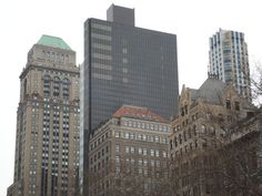 Fifth Avenue Tower and Mercantile Building from Bryant Park (from freenyc)