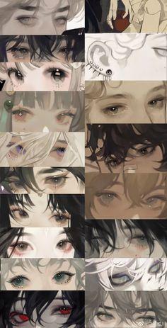 Manga Art, Anime Art, Manga Drawing Tutorials, Drawing Tips, Wie Zeichnet Man Manga, Eyes Artwork, Digital Painting Tutorials, Sad Art, Anime Kunst