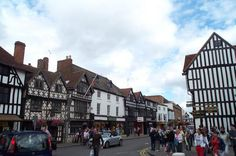 Shakespeare's home town is a beautiful place with lots of old timber and plaster buildings.