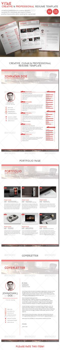 FREE EDIT - 4 Resume Templates + 2 FREE Cover Letter Templates - resume template editable