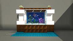 r/Minecraft - Build a Neat and Simple Aquarium Interior Design for Your House Minecraft Mansion, Minecraft Houses Blueprints, Modern Minecraft Houses, Minecraft Room, Minecraft Plans, Minecraft House Designs, Minecraft Tutorial, Minecraft Crafts, Minecraft Furniture
