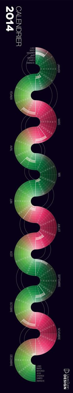 CALENDAR 2014 by Laura Durán, via Behance