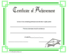This Certificate Honoring Outstanding Achievement In Reading Is