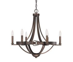 View the Capital Lighting 4206-000 Chastain 6 Light 1 Tier Candle Style Chandelier at LightingDirect.com.