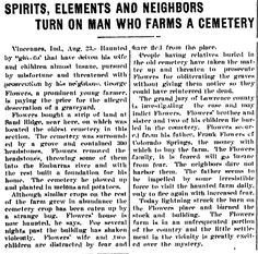 "A newspaper article about a haunted farm in Indiana, published in the Kalamazoo Gazette (Kalamazoo, Michigan), 24 August 1902. Read more on the GenealogyBank blog: ""Researching Old Ghost Stories & Haunted Houses in Newspapers."""
