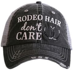 Gray & Silver 'Rodeo Hair' Trucker Hat #hat #womens
