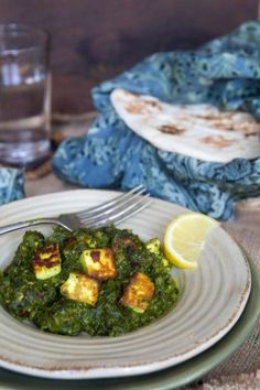 Spinach and Cheese Curry (Palak Paneer) - Indiaphile