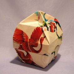 Momodani good English lamp type origami box and lid drawing tutorials taught you how to make beautiful origami box