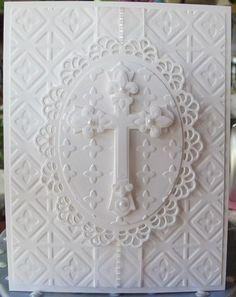 spellbinder crosses #2 and embossing folders...beautiful job...