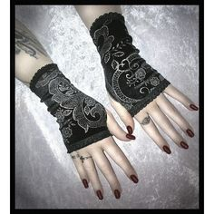 EGL Vampire Gothic Victorian Dark Tribal Goth Wedding Bohemian ❤ liked on Polyvore featuring accessories