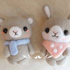 Needle Felted Felting Wool Animals Bear Bunny Scarf Cute Craft | Feltify