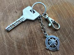 Compass Keychain  Bohemian  Gypsy Accesory por WILDSOUL19 en Etsy