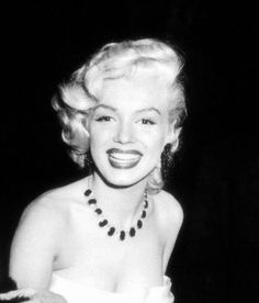Marilynat the cinerama party at The Coconut Grove Night Club January 1st;1953