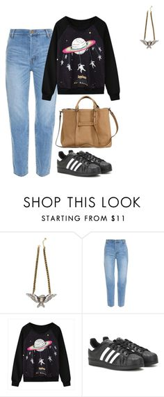 """Sin título #601"" by mary-nava ❤ liked on Polyvore featuring Muveil, adidas and Longchamp"