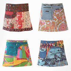 moshiki german wrap skirt - love these!