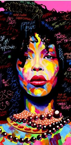 Monamour Water Colored African American Women Girl Afro Hair Abstract Print Eco-Friendly Vinyl Room Door Decals Wallpaper Wall Murals Removable Door Stickers Posters DIY Art Decors for Home Black Girl Art, Black Women Art, Art Girl, American Wallpaper, Art Of Noise, African Paintings, Black Art Pictures, African American Art, American Women