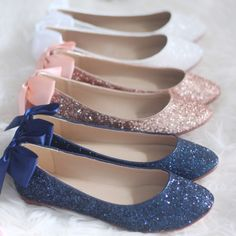 If you want to find very comfortable wedding shoes you have two top choices, one is to wear cowgirl wedding boots (as many of our readers choose). Converse Wedding Shoes, Sparkly Wedding Shoes, Wedding Flats, Blue Bridal Shoes, Bridal Flats, Sparkly Shoes, Blue Wedding, Elegant Wedding, Wedding Rings