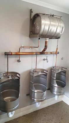 A quirky, original upcycling idea that& perfect for a rustic bar or a p . - A quirky, original upcycling idea that& perfect for a rustic bar or break … - Brewery Design, Pub Design, Restaurant Design, Restaurant Interiors, Bar Interior, Bar Deco, Pub Decor, Home Decor, Restaurant Bathroom