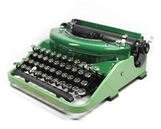 Vintage Two Tone Green Underwood Noiseless by BMTvintage on Etsy BEAUTIFUL