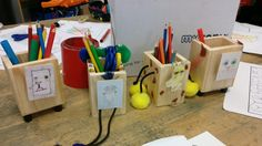 Great examples of products from Year 6 with the Animal Friend Desk Tidies!