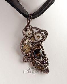 Steampunk owl pendant by *ukapala on deviantART