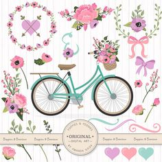 Premium Wedding Clipart & Vectors Garden Party by AmandaIlkov