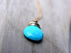 Sleeping Beauty Turquoise Necklace  Saressa Designs