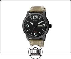 Citizen BM8476-23E - Reloj analógico de cuarzo para hombre, correa de nailon color beige de  ✿ Relojes para hombre - (Gama media/alta) ✿