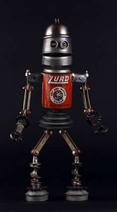 Found Object Robot Assemblage Sculpture - Brian Marshall