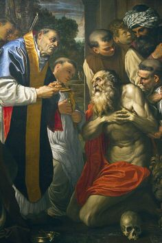 Carracci Agostino, Ultima Comunione di San Girolamo by storvandre, via Flickr