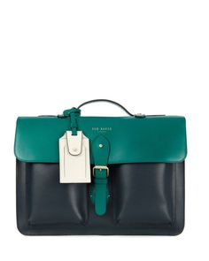 Mixed leather satchel | Ted Baker