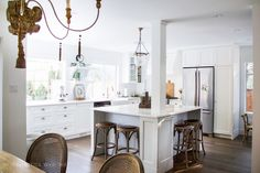 French vintage kitchen renovation, white with gold accents/ My Big Beautiful Kitchen Renovation - Before and After Photos