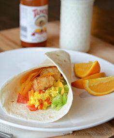 Easy Breakfast Burritos/ I Heart Naptime