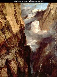 The Pass of St. Gotthard, Switzerland - Joseph Mallord William Turner - www.william-turner.org