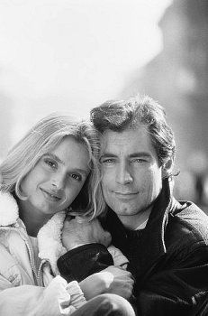 Maryam D'Abo and Timothy Dalton October, 1986
