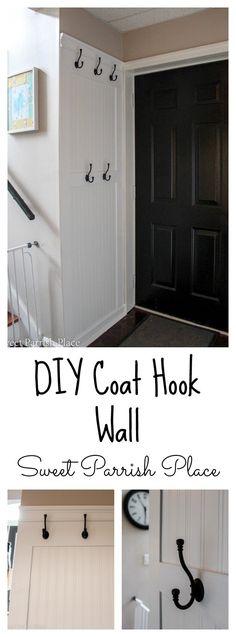 DIY Coat hook wall