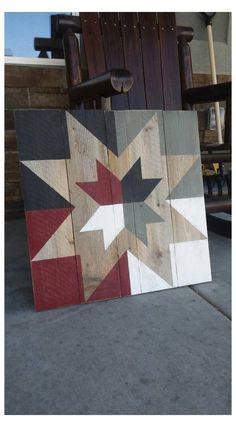 Barn Quilt Designs, Barn Quilt Patterns, Pattern Blocks, Quilting Designs, Block Patterns, Wood Patterns, Wooden Barn, Rustic Barn, Rustic White