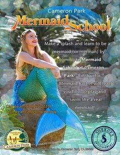 is expanding its offerings to in ! Rachel is leading our options starting this in May! Photo by Joe Woods. Call to register for Mermaid School, Professional Mermaid, Mermaid Poster, Cameron Park, Mermaid Pictures, Real Mermaids, Merman, Learning To Be, Northern California