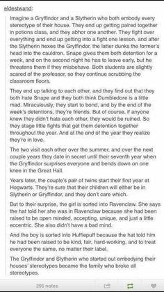 I imagined Hermione and Draco when I read this until it said the Gryffindor bent down on one knee❤️