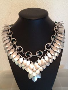 Scalemaille Valkyrie chainmaille necklace  by MetalsandPieces, $95.00