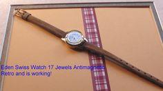 SWISS WATCH Wind up Wrist Watch Mechanical by VINTAGEARTJEWELRY