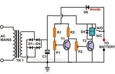 Electronic Circuit Projects: Self Regulating, Automatic Lead Acid Battery Charger Circuit