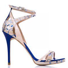 by alexandru Lac nude cu albastru Ss 15, Shoe Game, Shoes 2015, Nude, Sandals, Spring Summer, Fashion, Shoe, Slide Sandals