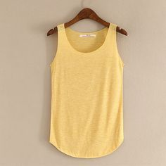 Tank Top Sleeveless Round Neck Loose Singlets Vest Crop Top Summer Women Solid Tops Women'S Clothing Camisole Color blue Size One Size Loose Tank Tops, Summer Crop Tops, Workout Tank Tops, T Shirts For Women, Clothes For Women, Tankini Top, Summer Fitness, Fitness Top, Vest
