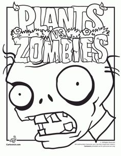 free printable plants vs zombies coloring page