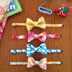 super cute! DIY bow ties for your little one for Easter