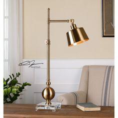 Uttermost Laton Task Brushed Brass Task Lamp 29982-1