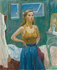 Självporträtt (Self Portrait) - Tove Jansson 1942 Finnish painter Illustrations, Illustration Art, Miss Moss, Tove Jansson, Digital Museum, Portraits, Collaborative Art, Cute Characters, Mode Inspiration