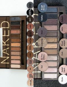 MAC dupes for Urban Decay Naked Palette.